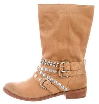 Ash Embellished Satin Boots