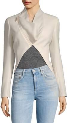 Akris Women's Calla Wool Cut-Out Jacket
