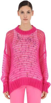 N°21 Wool Blend Knit Sweater W/ Tank Top
