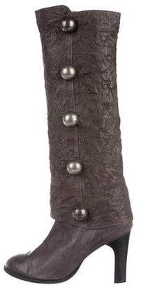 Thomas Wylde Leather Knee-High Boots