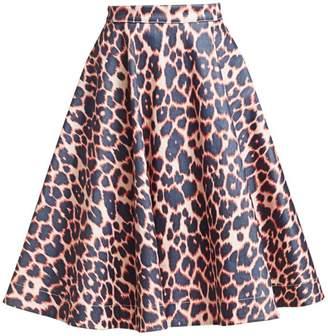c5582ef927b0 Calvin Klein Cotton-Stretch Leopard Print Skirt