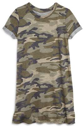 Aqua Girls' Camo-Print T-Shirt Dress, Big Kid - 100% Exclusive