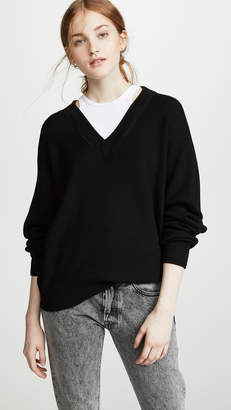Alexander Wang Bi-Layer V Neck Sweater