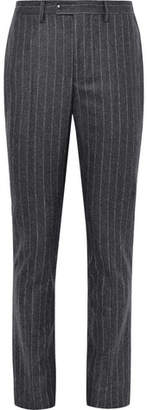 Officine Generale Slim-Fit Pinstriped Brushed Wool Trousers