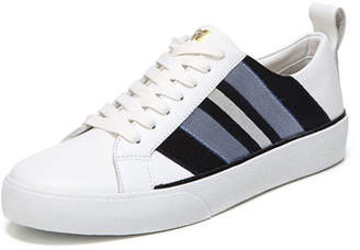 Diane von Furstenberg Tess-2 Striped Leather Lace-Up Sneakers