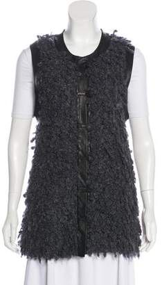 Rag & Bone Fleece Button-Up Vest