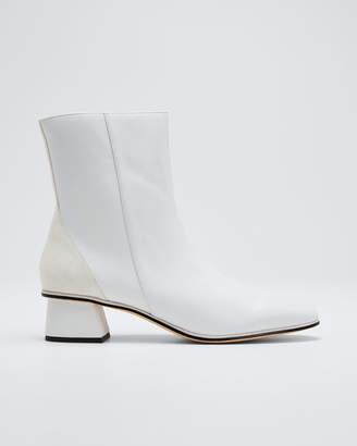 Mara & Mine India Leather Block-Heel Booties