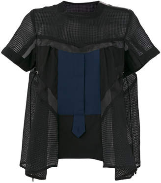 Sacai flared fit blouse