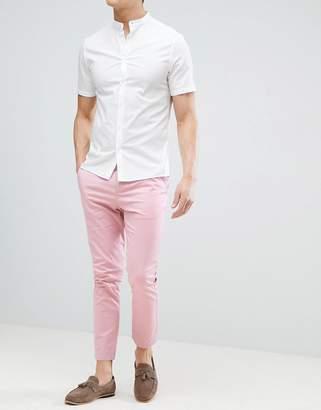 Asos DESIGN Skinny Cropped Chinos In Pastel Pink