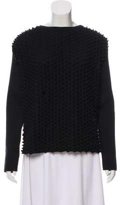 Paco Rabanne Textured Long Sleeve Top