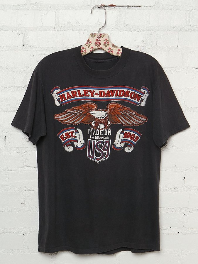 "Harley-Davidson Vintage Made in USA"" Graphic Tee"