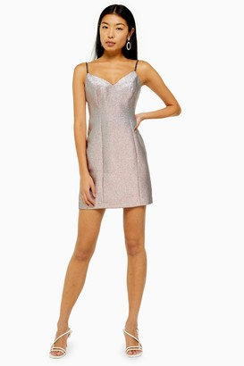 Topshop Two Tone Mini Dress