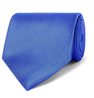 Ermenegildo Zegna 8cm Silk-faille Tie - Light blue