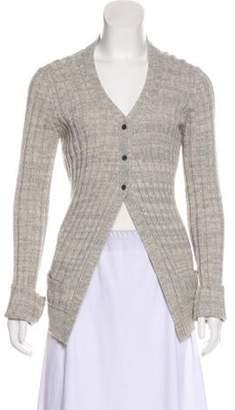 Michael Kors Wool Button-Up Cardigan grey Wool Button-Up Cardigan