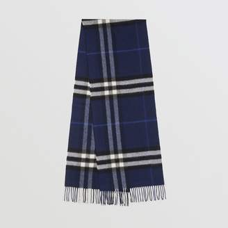 Burberry The Classic Check Cashmere Scarf, Blue