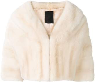 Liska cropped fur jacket