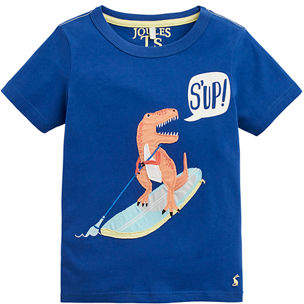 Joules Archie Textured Chameleon Graphic Tee, Size 2-6