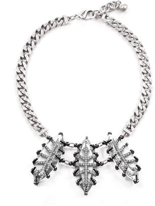 Lulu Frost Clara Crystal Navette Statement Necklace
