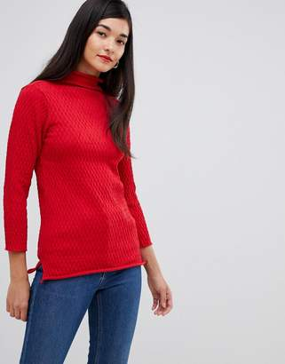 French Connection Molly Mozart high neck waffle knit jumper