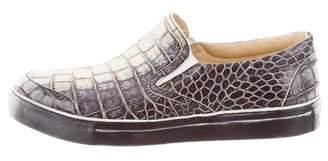 Free Lance Freelance Embossed Slip-On Sneakers