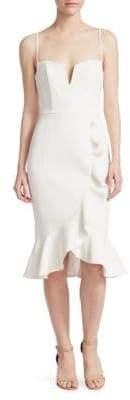 Nicholas Ruffled Sheath Dress