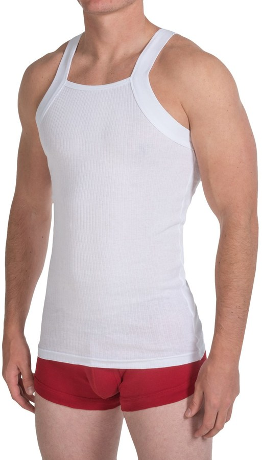2(x)ist Essential Square Cut Tank Top - 2-Pack (For Men)