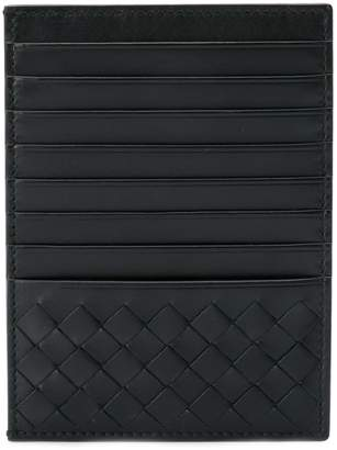 Bottega Veneta nero Intrecciato calf card case