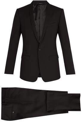 Dolce & Gabbana Gold-fit shawl lapel stretch-wool suit