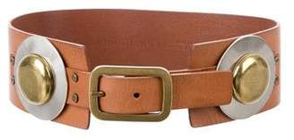 Diane von Furstenberg Leather Embellished Waist Belt