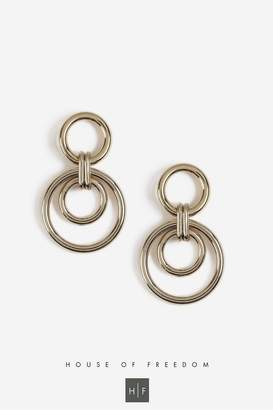Topshop House of Freedom Circle Link Earrings