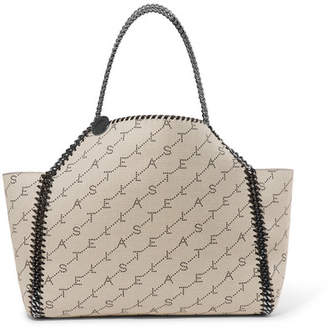 Stella McCartney The Falabella Canvas-jacquard Tote - White