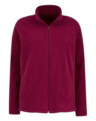 Fashion World Berry Red Fleece Jacket