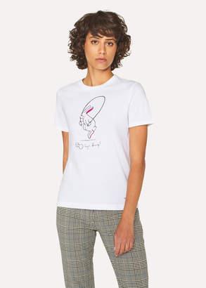 Paul Smith Women's White 'Gym Bunny' T-Shirt