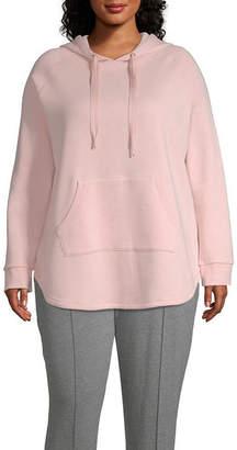 Xersion Long Sleeve Fleece Hoodie-Plus