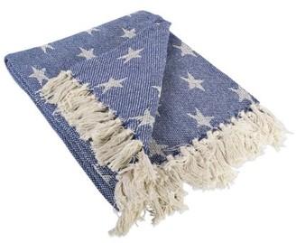 "Dii DII Patriotic Stars Decorative Throw, 50""x60"", 100% Cotton, Multiple Colors"