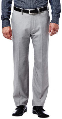 Haggar Expandomatic Stretch Classic-Fit Flat-Front Pants
