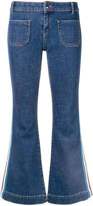 Sonia Rykiel flared side stripe jeans