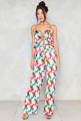 Nasty Gal You and I Wide-Leg Pants