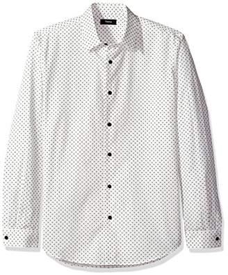 Theory Men's Long Sleeve Micro Printed Dress Shirt