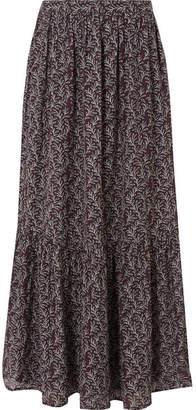 Vanessa Bruno Gilson Printed Gauze Maxi Skirt - Purple