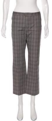 Etoile Isabel Marant Plaid Mid-Rise Straight-Leg Pants