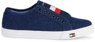 Tommy Hilfiger Logo Patch Slip-On Sneakers