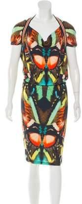 Jean Paul Gaultier Soleil Printed Knee-Length Dress Black Soleil Printed Knee-Length Dress