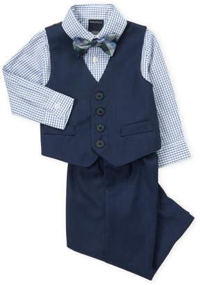 Nautica Infant Boys) 4-Piece Check Shirt & Dress Pants Set