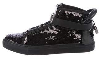 Buscemi Sequin High-Top Sneakers