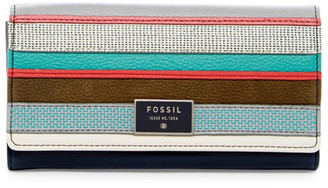 Fossil Leather Patchwork Flap Wallet $90 thestylecure.com