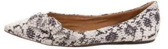Isabel Marant Snakeskin Pointed- Toe Flats