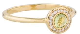 Ippolita 18K Diamond & Peridot Lollipop Mini Ring