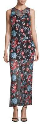 Alexia Admor Embroidered Sleeveless Dress
