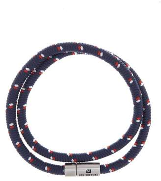 Ben Sherman Stainless Steel Wrap-Around Cord Bracelet